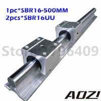 16mm Linear Rail SBR16 L500MM Supporter Rauls 2pcs Block SBR16UU High Quality New