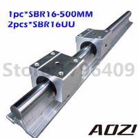 16mm Linear Rail SBR16 L500MM Supporter Rauls 2pcs Block SBR16UU High Quality New