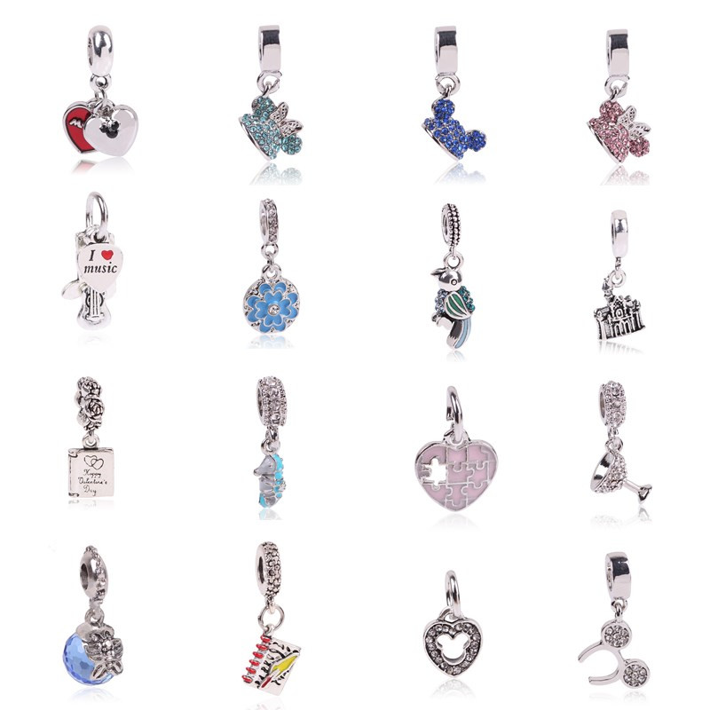 AIFEILI New Fashion Jewelry Silver Color Guitar Parrot