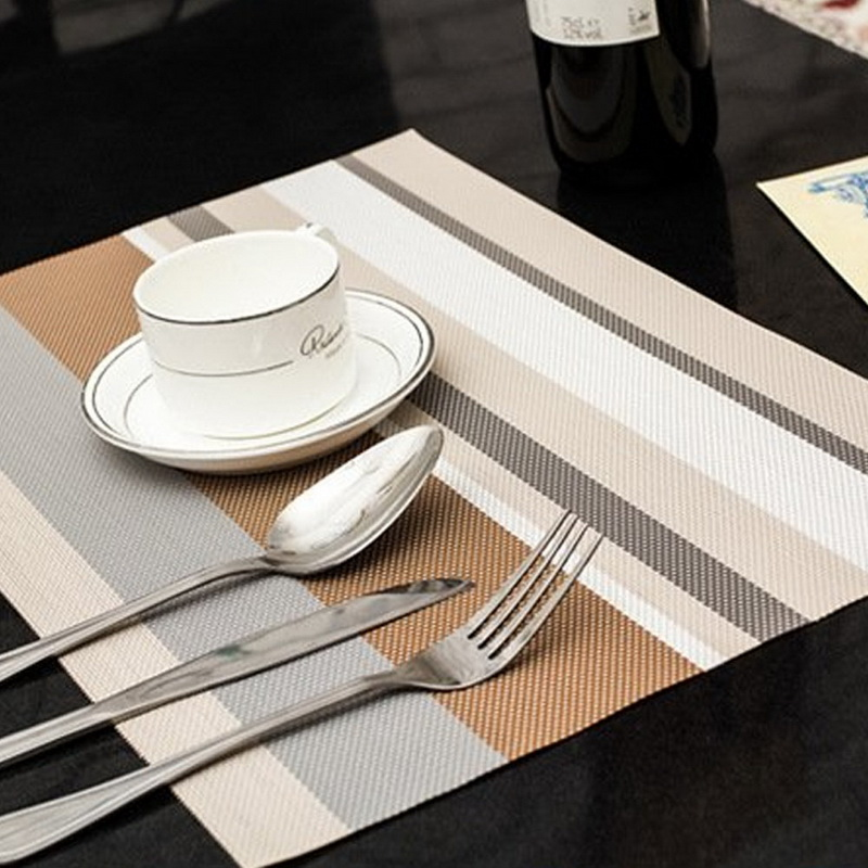 Genial 4PCS/Lot Heat Resistant PVC Kitchen Dinning Stripe Table Placemats For  Table Mat Manteles Doilies Cup Mats Coaster Pad 45*30cm In Mats U0026 Pads From  Home ...