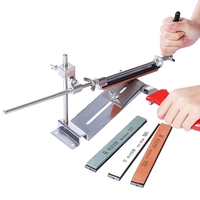 RUIXINPRO Knife Sharpener Professional Chef Knife Sharpener All Iron Steel Kitchen Sharpening System Tools With 4 Whetstones