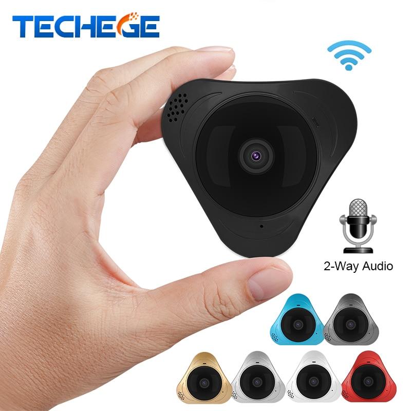 Techege 960P 3D VR WIFI Smart Camera 360 Degree Panoramic IP Camera 1.3MP FIsheye Wireless camera w TF Card Slot IR 10M Yoosee