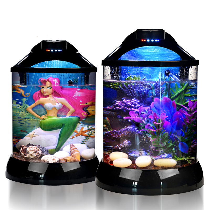 3d background betta tank golden fish bowl desktop aquarium for 20 gallon fish tank size