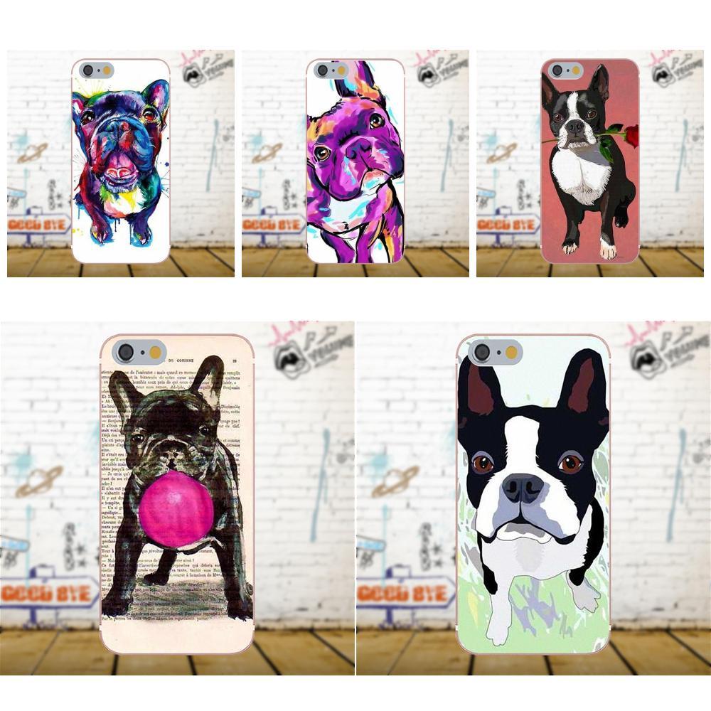 Super Mignon Teckel Chien Bouledogue Boston Terrier Pour Samsung Galaxy A3 A5 A7 J1 J3 J5 J7 2016 2017 S5 S6 S7 S8 S9 bord Plus