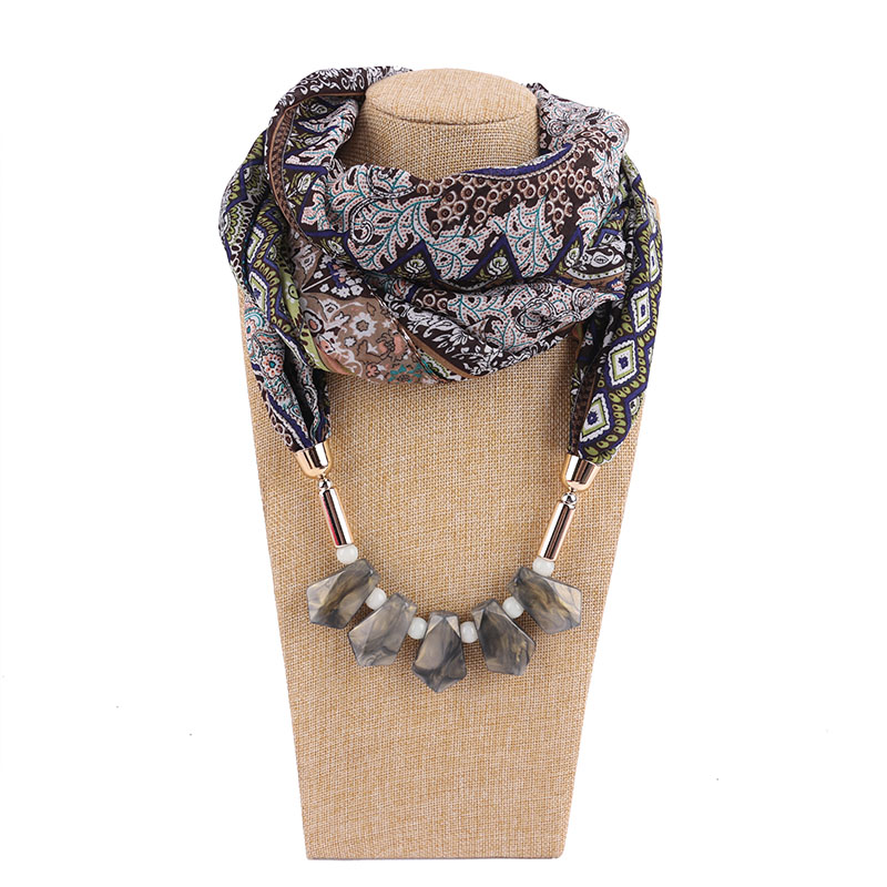 New style national amber necklace ladies scarf head Jewelry  Pendant free shipping