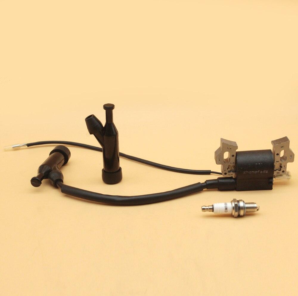 Ignition Coil Cap Spark Plug Fit HONDA GX110 GX120 GX140 GX160 GX200 168F 4-Stroke Gasoline Engine Motor Lawn Mower Generator