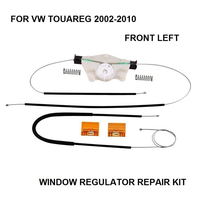 R VW TOUAREG WINDOW REGULATOR REPAIR KIT FRONT-LEFT 2002-2010
