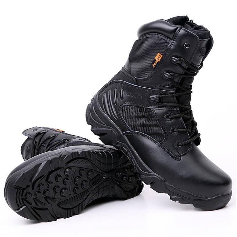 Botas tácticas militares Delta para hombre de alta calidad impermeables antideslizantes zapatos de viaje al aire libre zapatillas negras para hombres zapatos de senderismo