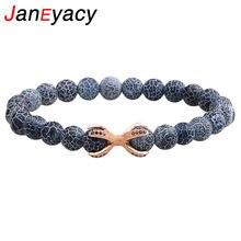 Janeyacy бренд браслет 2018 Новая мода 8 мм натуральный камень