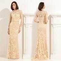 Большой размер мать невесты платья высокое качество кружева аппликация желтый онлайн долго невесты матери платье для свадеб ( MO 8245 )