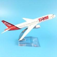 JASON TUTU 16cm şili TAM uçaklar uçak Model uçak modeli Boeing 777 brezilya uçak modeli Diecast Metal 1:400 uçak oyuncak