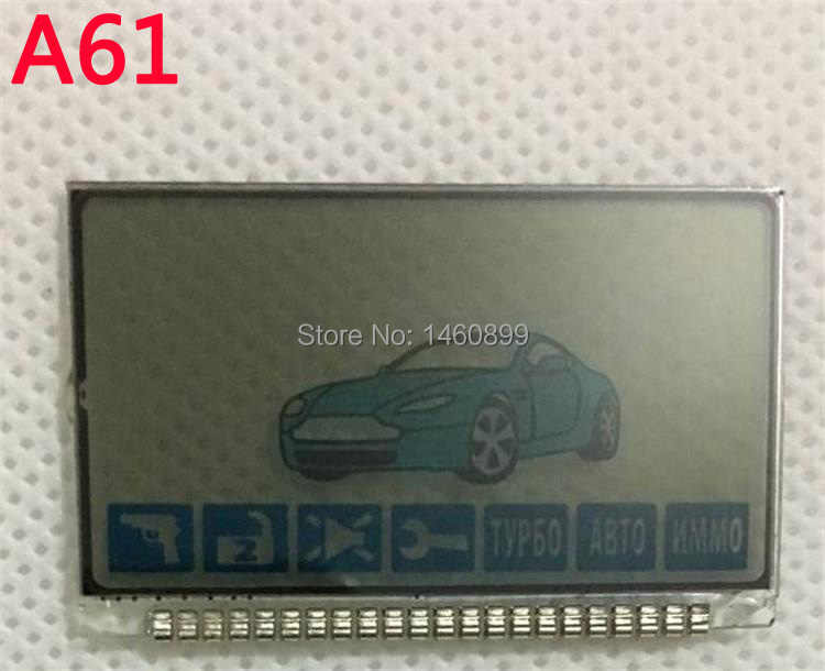Wholesale A61 Lcd display screen For Russian Anti-theft Two Way Car Alarm System Twage Starline A61 LCD Remote Control Key Fob