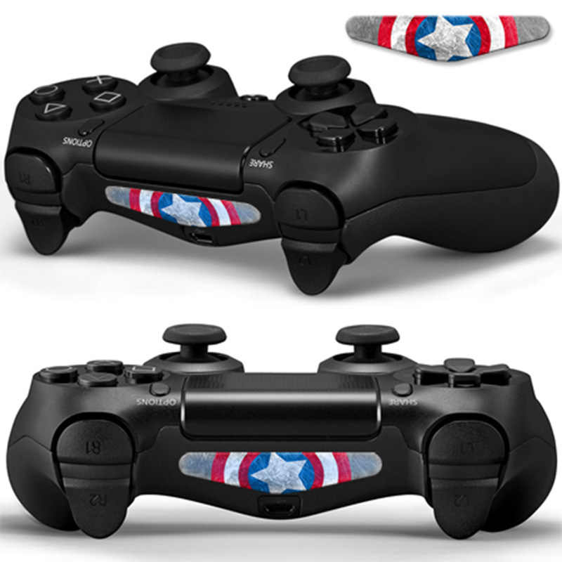2PCS For Dualshock 4 PS4 Pro Slim Controller LED Light Bar Decal Sticker Cover For PlayStation 4 Control Game Skins