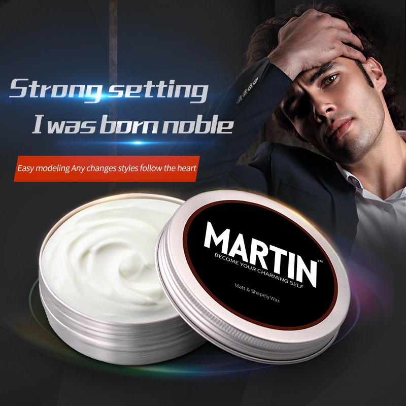Professional Fashion Hair Mud Pomade Strong styling hair wax mens pomade
