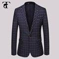 Новый стиль мужской моды тонкий вскользь новинка джентльмен блейзер мужская свадьба костюм с длинными рукавами верхняя одежда джаз костюмы 2016