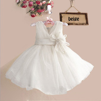 De europa Y América Del Flor de Las Muchachas Niños Vestido de Novia Vestido de Noche Del Bebé Niñas Ropa de Rendimiento de 8 Colores D0343