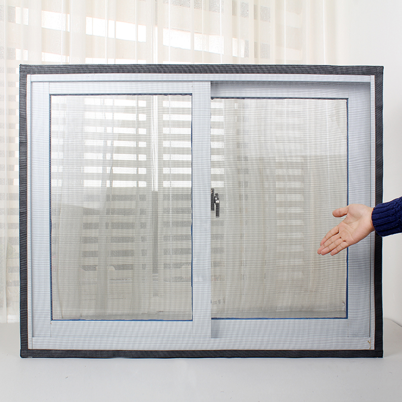 Hot Simple Invisible Mosquito Screens Net DIY Self Adhesive Velcro  Nonmagnetic Screens Curtains Can Be