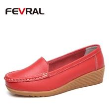 FEVRAL 2019 Summer Woman Flats Shoes Woman Split Leather Lad