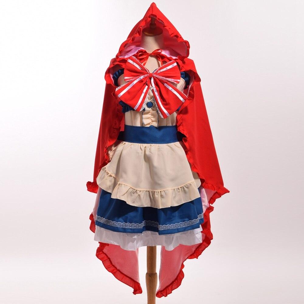 Yazawa Nico Little Red Hood Dress Anime Love Live Fairy Story Cosplay Custumes