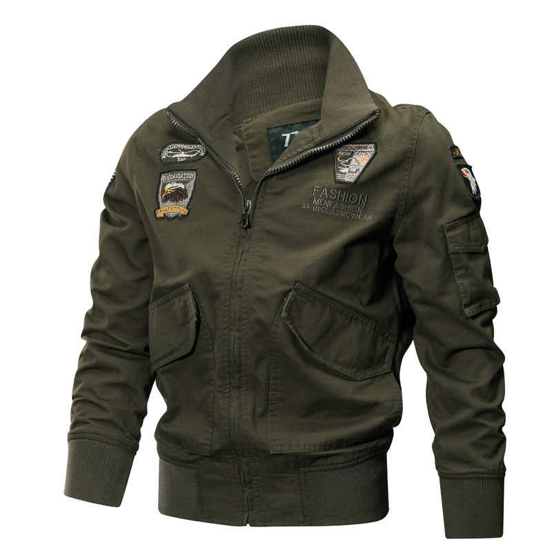 Military Jacket Men Winter Cotton Jacket Coat Army Pilot Jackets Air Force Cargo Coat Spring Slim Type Tactical Jacket M-4XL