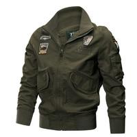 Military Jacket Men Winter Cotton Jacket Coat Army Pilot Jackets Air Force Cargo Coat Spring Slim type Tactical Jacket M 4XL