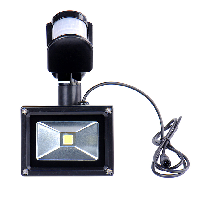 10W Cool White Outdoor Solar LED Lights Garden lamparas 60 LEDs with PIR Motion Sensor Solares Floodlights Spotlights CE&ROHS