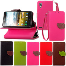 Elegant Leaf Design PU leather Wallet Case For Lenovo P780 case Wallet Card Holder stand Flip Mobile Phone Bags cover
