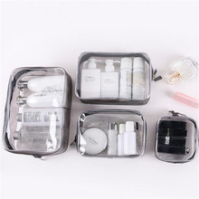 Fashion Transparent PVC Cosmetic Bag Travel Organizer Convenient Storage Bags Simple Packaging Cube Makeup