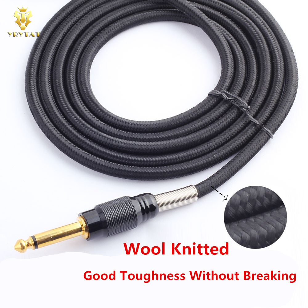Top Wool Knitted RCA Copper Tattoo Power Clip Cord Supply Orange ...