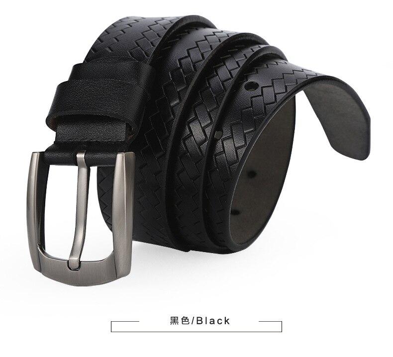 2017New homme loisirs confortable tendance peau de vache durable ceinture rétro cuivre boucle ceinture archaize solide couleurs ceinture