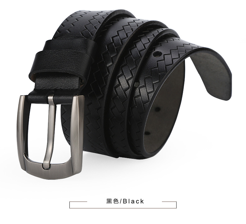 2017New man recreational comfortable trend cowhide durable girdle retro copper buckle belt archaize solid colors belt