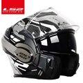 2018 Valiant LS2 FF399 fronte pieno del motociclo del casco flip-up a doppia visiera usura autentico occhiali di design ECE cascos de motos NUOVA MODALITÀ