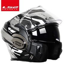 2018 Valiant LS2 FF399 full face motorcycle helmet flip up dual visor authentic wear glasses design ECE cascos de motos NEW MODE silvering visor full face dual visor motorcycle helmet