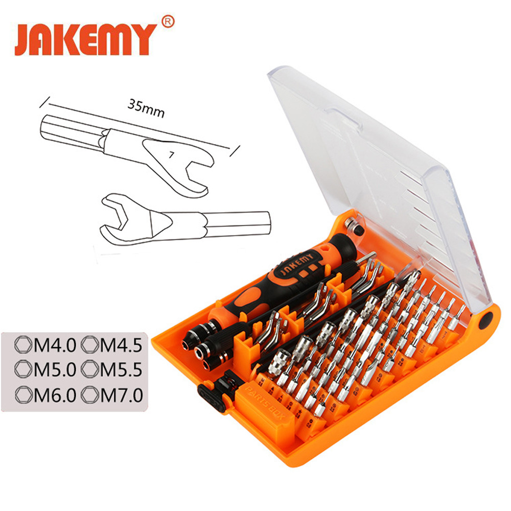 JAKEMY 52 in 1 Professional Precision Screwdriver Set Multifunction Hand Repair Tool Kit for Watch Mobile Cell Phone PC jakemy 72 in 1 multifunctional professional screwdriver bits set mini precision screwdriver set home repair tool for cell phone