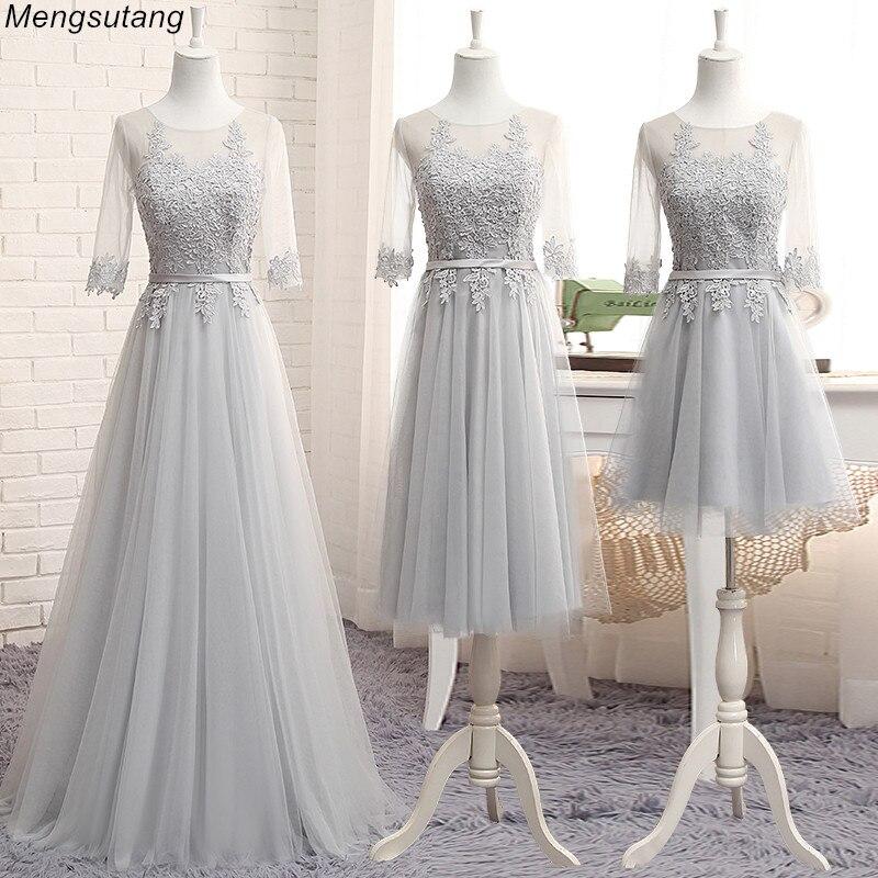Robe de soiree Scoop Neck Lace up Transparent Lace Embroidery A-line Long   evening     Dress   vestido de festa Formal Prom   Dresses
