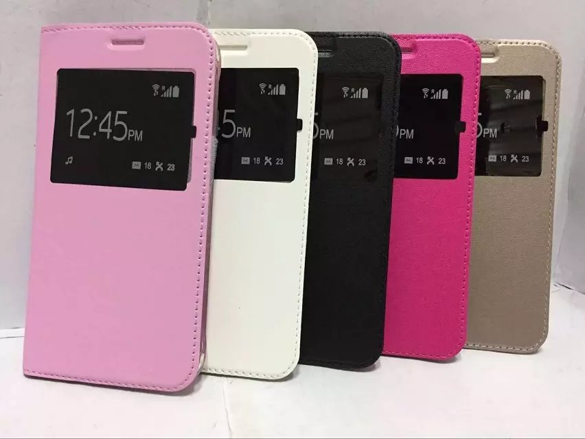 buy popular 06b81 d808f US $3.29 34% OFF|PU Leather Window View Flip Book Case For Samsung Galaxy  A3 A5 A7 J2 J3 J5 J7 2016 2017 A6+ A8 2018 Fundas Back Cover Shell Case-in  ...