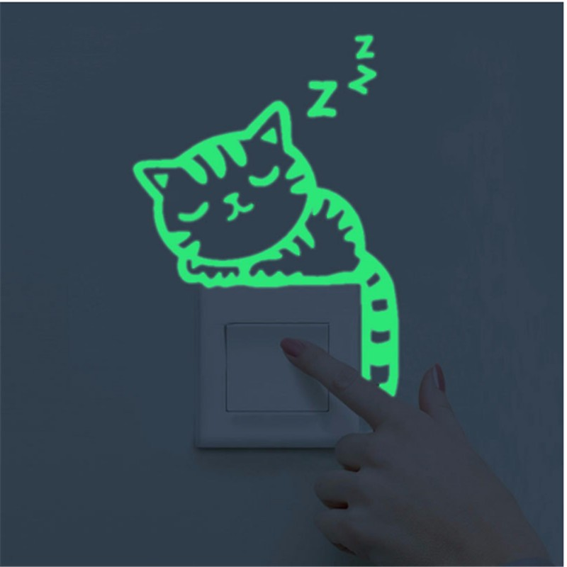 Luminous Stickers Sleepy Cat/Star Moon Glow in the Dark DIY Switch Sticker Luminous Stickers Sleepy Cat/Star Moon Glow in the Dark DIY Switch Sticker HTB1U0qIOXXXXXbxXVXXq6xXFXXXl