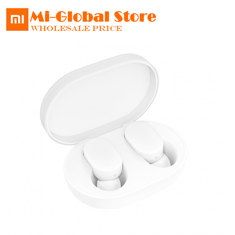New Arrival Original Xiaomi MIjia Airdots TWS Bluetooth 5.0 Earphone Youth Version Touch Control with Charging Box xiaomi tws airdots bluetooth earphone youth version stereo bass bt 5 0 headphones mic handsfree earbuds ai control