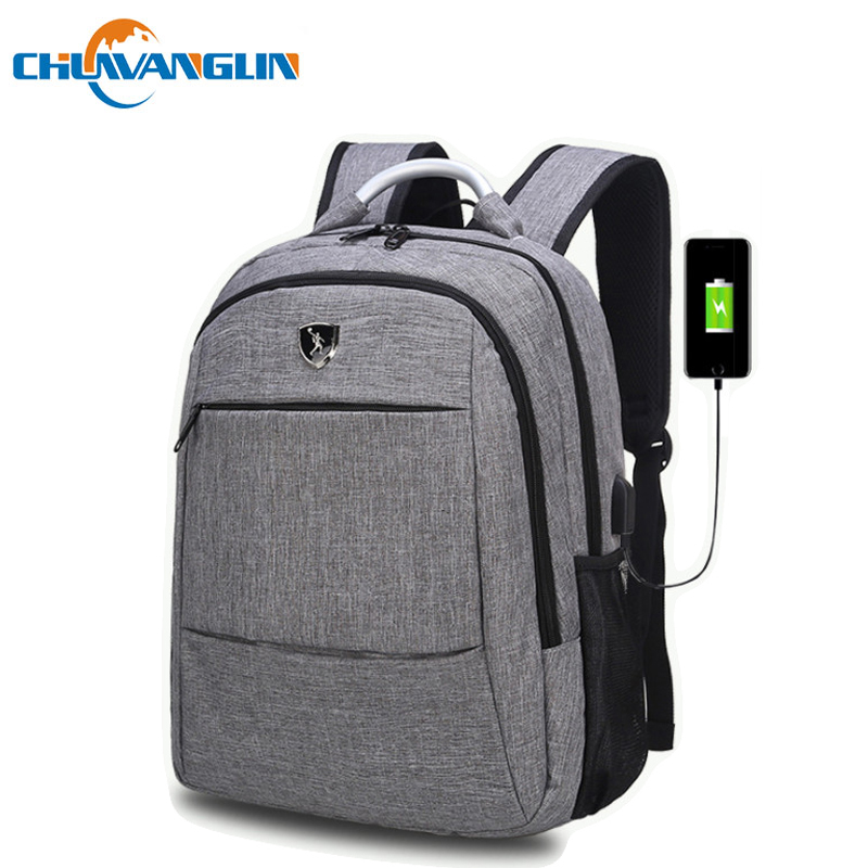 Chuwanglin Fashion Male Backpacks 15.6 Inch Laptop Backpack Waterproof School Bags Casual Business Backpack Men C08991