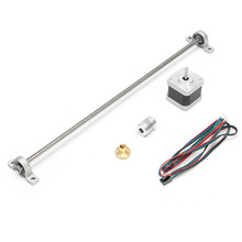 NEW 1PC 400mm Lead screw + 1PC Screw Nut +2PCS Mounted ball bearing + 1PC Shaft coupling +1PC Motor For 3D Printer