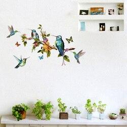 Wielokolorowe motyle i ptaki latające naklejki ścienne salon dekoracje do sypialni tapety ścienne wymienne naklejki