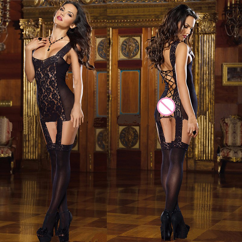 2017 New Arrive Hollow Out Sexy Lingerie Women Erotic Lingerie Hot Sex Products Sexy Costumes Dress Bodysocks Sleepwear