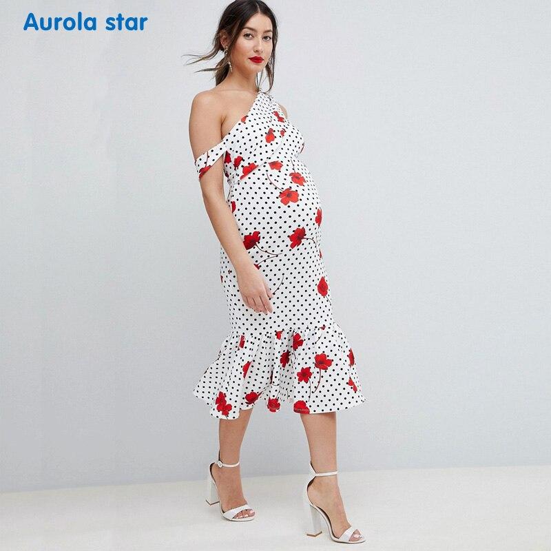4e91a53386c39 Photo shoot Dress Summer Maternity One shoulder Dress For Pregnancy ...