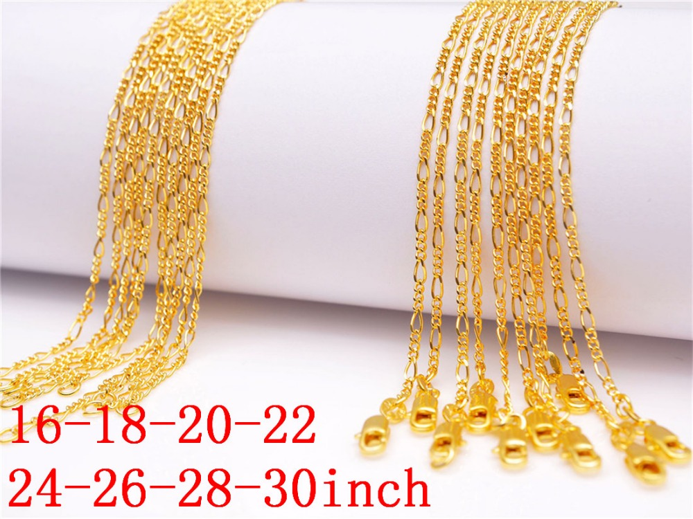 Wholesale 10X Making Jewelry 18K Gold Filled Singapore Chains Necklaces Pendant