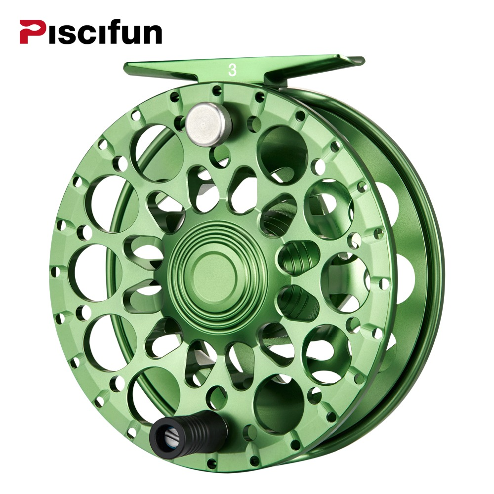цена на Piscifun Crest Fly Reel 5/6 7/8 9/10 Fully Sealed Drag CNC Machined Aluminium Alloy Right Left Hand Retrieve Fly Fishing Wheel