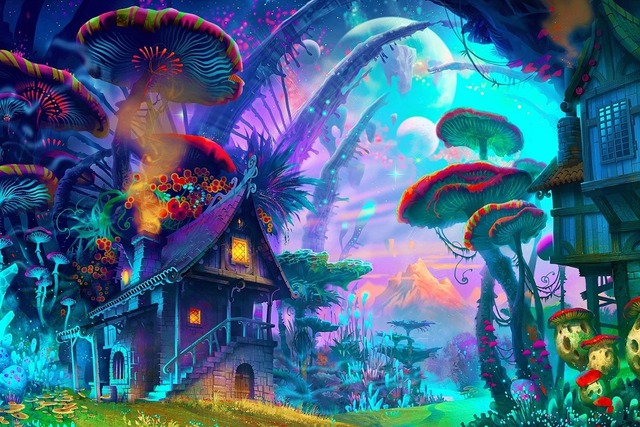 Trippy Wall Painting