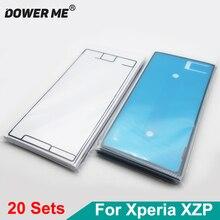 Dower Me 20 adet/grup Sony Xperia XZ Premium Için XZP G8142 G8141 lcd ekran Sticker Ön Çerçeve Yapıştırıcı arka kapak Tutkal Tam seti