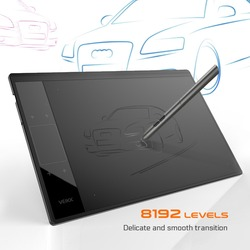 VEIKK A30 Graphic Drawing Tablet for Illustrator 10x6 inches Large Active Area Digital Drawing Pad For Artists