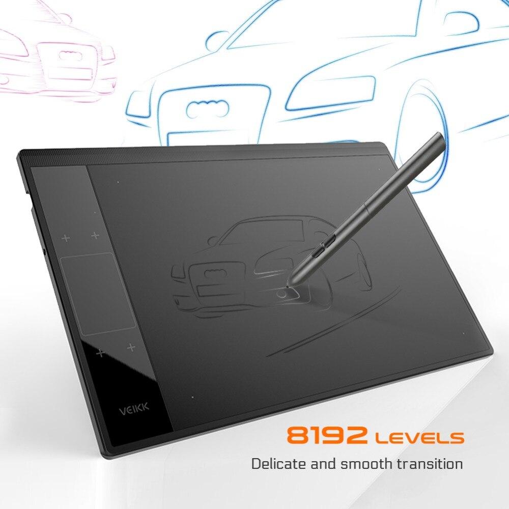 VEIKK A30 gráfico tableta de dibujo para Illustrator 10x6 pulgadas gran área activa Digital bloc de dibujo para artistas