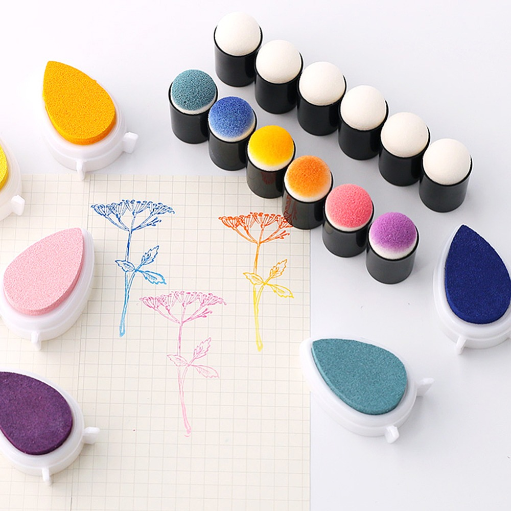 40pcs Fingerpaint Drawing Sponge Foam Finger Chalk Ink Sponge Finger Daubers Foam Finger Painting Craft Set